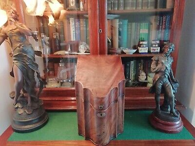 Regency Knife Cabinet Antique Georgian Vintage Mahogany Stationary Box C1820