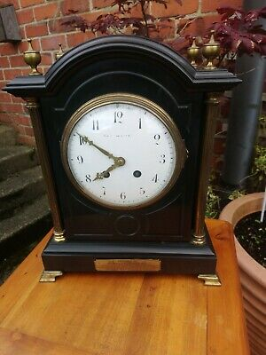Large Antique French 8 Day, Striking Presentation clock, Slate Dated 1907 G.W.O
