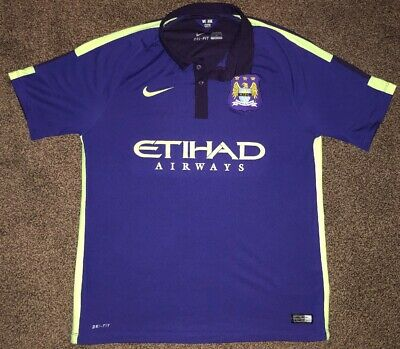 Manchester Man City Third Shirt 2014 - 2015 Size Large L Nike Etihad