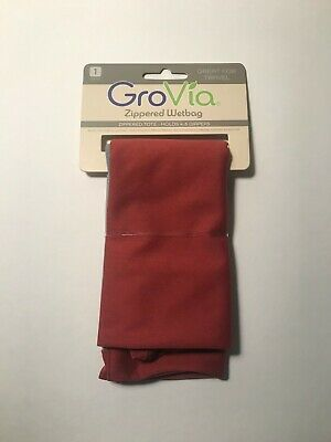 GroVia Marsala Zippered Wetbag