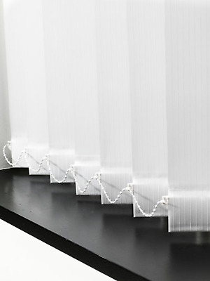 DIY Vertical Blind Kit, White, Ready Made Kit, Complete Set with 3.5 Inch fab...