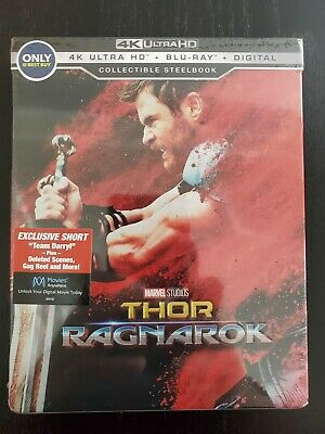Marvel Thor Ragnarok 4K Steelbook Blu Ray New (sealed) best buy