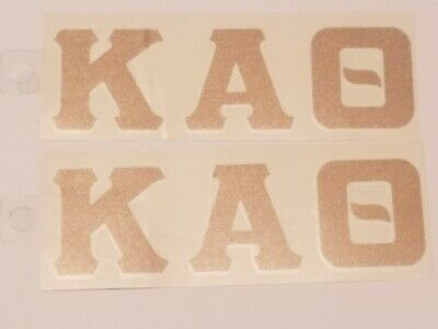 2-PACK OF KAPPA ALPHA THETA GOLD Sticker for OUTSIDE GLASS