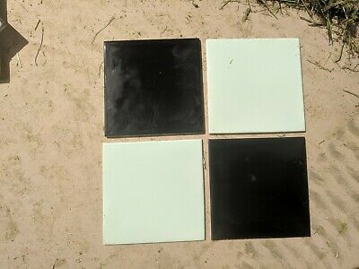 200+ Vintage Gloss Black and 30+ Mint Green Ceramic Wall Tiles and others