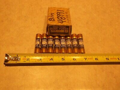 Lot Of 8 Bussmann One-Time Fuse Non-1/2
