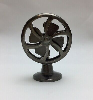 1/12 Dollhouse Miniature Furniture Vintage Black Metal Electric Fan Mid Century