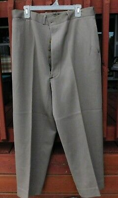 LARGE WW2 US Army Officer's  Fly Pinks Pants/Trousers Size 37  WAIST  1944 DATED