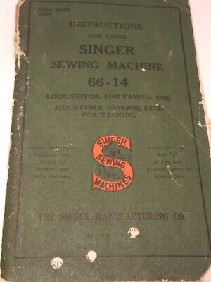 Vintage singer sewing machine instructions manual No 66-14 & Cloth Tape Meausure