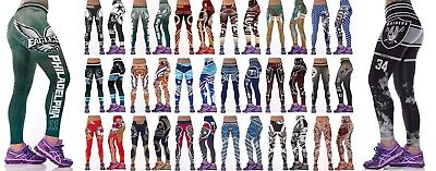 Womens Plus Size All Over Print Skinny Slim Fit Sports Trousers Leggings