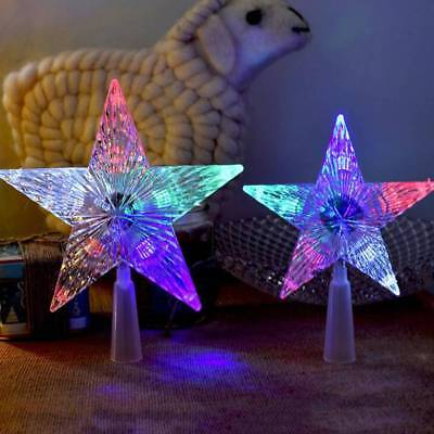 Color Changing Christmas Tree Topper Star Light Party LED Lamp Decoration Lovely