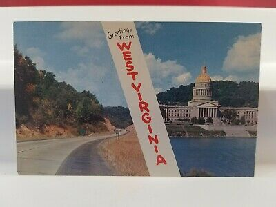 Vintage Postcard West Virginia State Capitol  Lot(317-51)