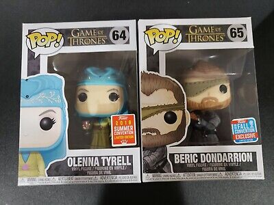 Game of Thrones Olenna Tyrell SDCC #64 & BERIC DONDARRION NYCC#65 Funko Pop 2018