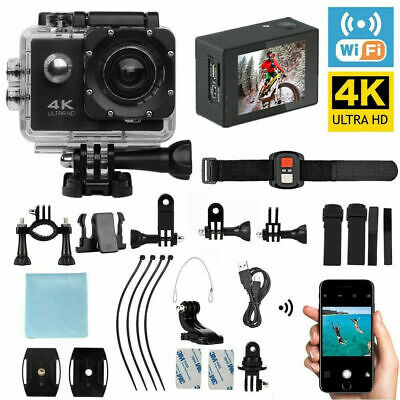 Full HD Action Camera Sport Camcorder Waterproof DVR Remote WiFi 4K 1080P G A7E2