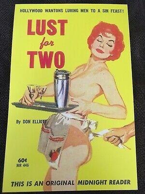 LUST FOR TWO vintage DINER sleaze paperback cover art 11x17 print poster REDHEAD