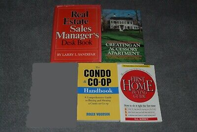 Lot of Four Real Estate Books~All In Xlnt Clean Cond.~Investing~Buy & Sell~FAST