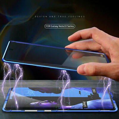 360° Front Back Magnetic Metal Glass Case Cover Shell for Samsung Note10 Plus 5G