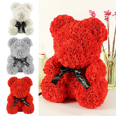 40cm Ours en Rose eternelle Ours Amour Teddy Bear Birthday mariage Valentin CP