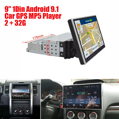"""9 """"Einstellbare 1Din Android 9.1 1080P Auto Stereo GPS MP5 Spiegel Link 2 + 32G"""