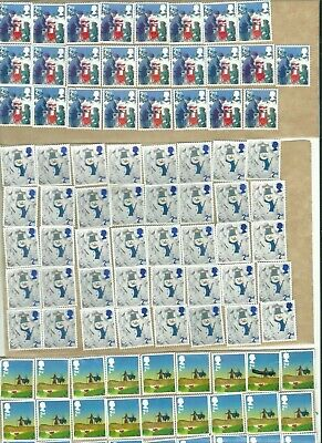 Great Britain. = 2Nd Class Comm Stamps Unfranked X 100 On Peel Off Backing !!!