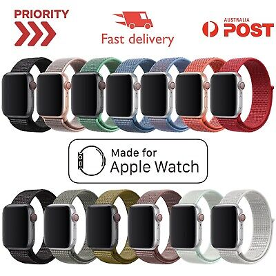 Sport Loop Band for Apple Watch 1 2 3 4 5 Nylon Woven Strap 42/44 38/40 NEW Nike