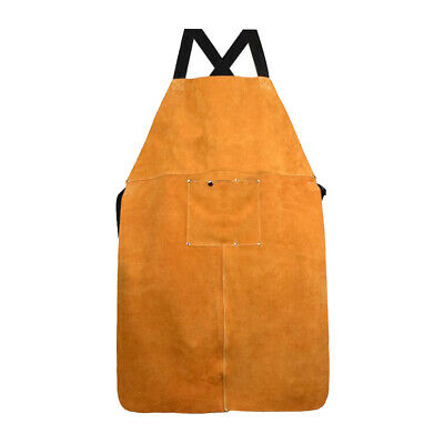 Work Shop Apron with Tool Pockets Heat Resistant Welding Apron for Welders