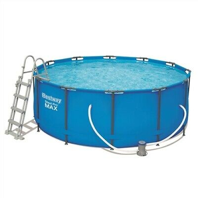 "Bestway 12ft x 48"" Steel Framed Above Ground Pool Set BW 56420 - 48"" deep"