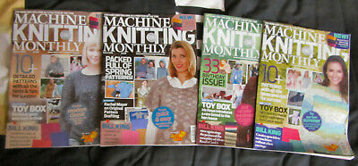 4 - 2019 Machine Knitting Monthly Magazines  Feb, March, April, May