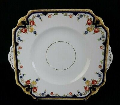 Antique Square China Cake Serving Plate - Phillips For Lawleys Regent Street VGC
