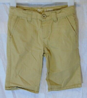 Boys Primark Beige Chino Denim Adjustable Waist Long Board Shorts Age 4-5 Years