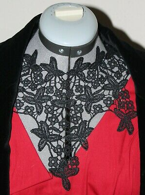 Black lace necklace - free pp(UK) - Gothic/Victorian/Steampunk style