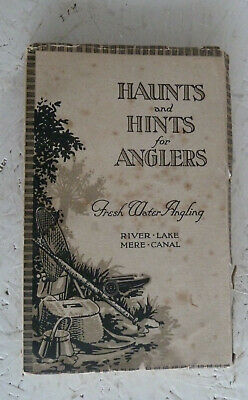 Vintage Book 1925 Haunts and Hints for Anglers Fresh Water Fishing Guide