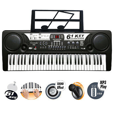 61 Key Electronic Keyboard Piano  Instrument  Musical Digital Mic UK Plug MP3