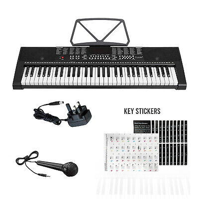 61 Keys Electronic Keyboard Digital Teaching Piano Music Instrument & Microphone