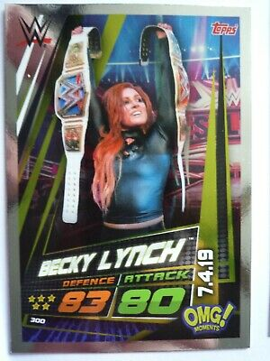 Topps Wwe Slam Attax Universe Omg Becky Lynch 07.04.19 Card Comb Post