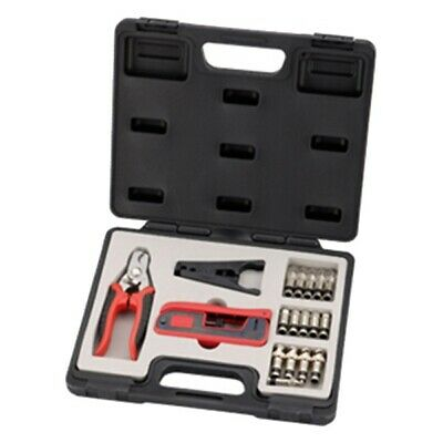 18 Piece Compression Crimper Tool Set Kit RG6 RG59 RG58 F BNC RCA Coax Connector
