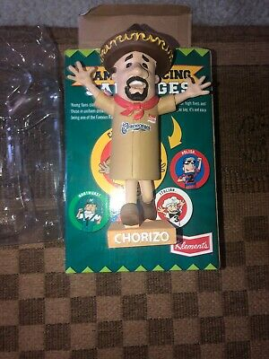 2014 Milwaukee Brewers Chorizo Racing Sausage SGA Promotional Bobblehead NIB