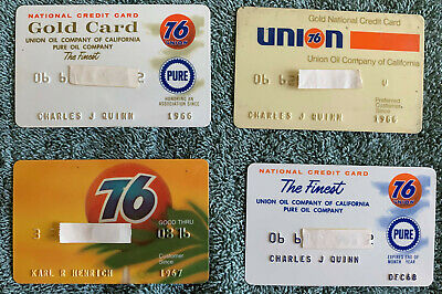 Lot of Old Vintage Gas Credit Charge  Cards - Union 76 Pure