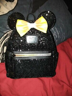 Disney Parks Minnie Mouse Candy Corn Sequined Mini Backpack By Loungefly
