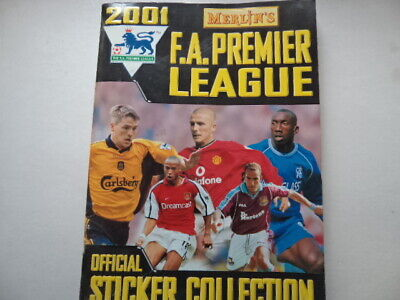 Merlin`s FA Premier League Football Sticker Album 2001 - Near Full