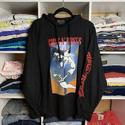 Vintage 90's 1993 Guns N Roses Use Your Illusion Tour Long Sleeve Hoodie T-shirt