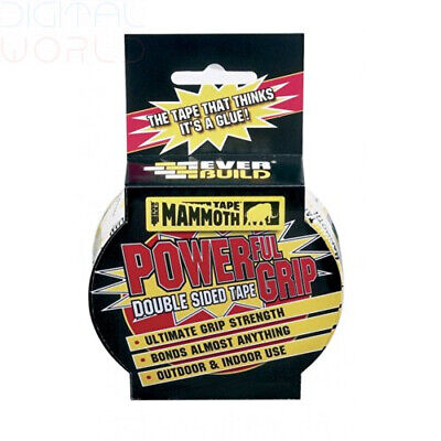 Mammoth Powerful Grip Tape - Re-enforced double-sided tape - 12mm x 2.5m
