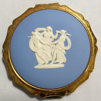 Vintage Stratton powder/mirror compact, Cameo of The Three Graces
