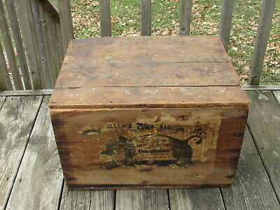 RARE Antique ALLEN'S LUNG BALSAM Shipping CRATE Has GRAPHICS - A Nice GO-With !!