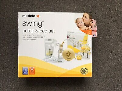 New Sealed Medela Swing Pump And Feed Breast Pump with Calma Teats