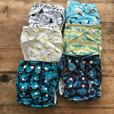 Simply Life Reusable Baby Cloth Diaper Set With Inserts New Never used
