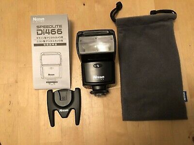 Nissin Speedlite Di466 Shoe Mount Flash in Very Good Condition