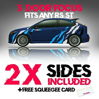 Ford Focus ST RS Ripped Tear Graphics Vinyl Sticker Kit