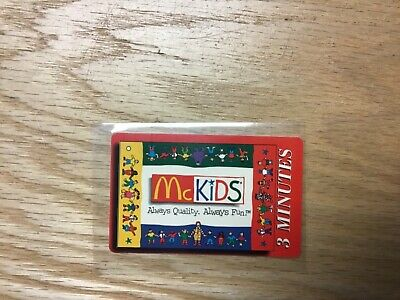 1996 McDonald's Convention 3 Minute Phone Card Sprint