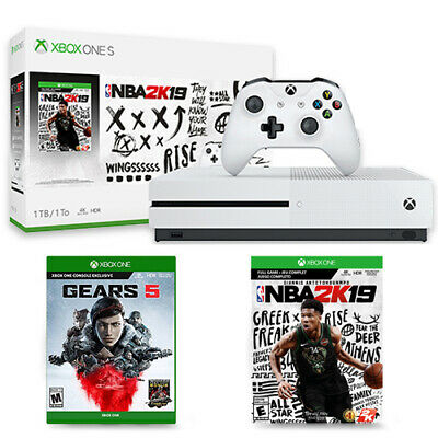 Xbox One S 1TB NBA 2K19 Bundle + Gears 5 Standard Edition