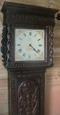 "Antique Carved Oak Case  "" Pickering ""  Longcase / Grandfather  Clock"